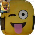 smiling yellow backpack bag children
