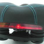 Inbike comfort saddle with safety LED Rear Light