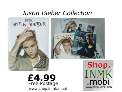 justin bieber tin of books and posters